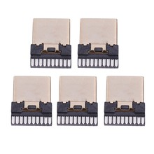 AMS-5 Pcs Hdmi Male 19 Pins Een Type Soldeer Plug Beëindiging Reparatie Vervangen(China)