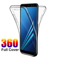 360 Full Coverage Case for samsung galaxy S10 S10e S9 Plus A6 A8 A7 2018 J8 J4 J6 J8 Note 5 9 8 10 Soft Clear Full Body Cover(China)