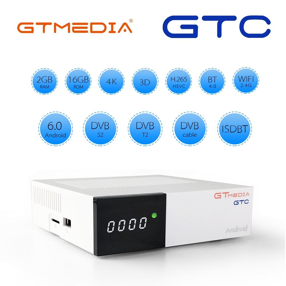 FREESAT GTmedia GTC Receptor DVB S2 DVB C DVB T2 ISDBT Amlogic S905D Android 6.0 TV BOX 2GB 16GB Satellite Receiver PK X96 Box-in Satellite TV Receiver from Consumer Electronics