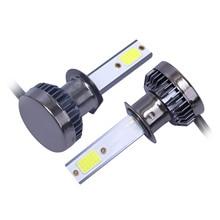 2pcs Car Truck LED DOB Headlights Light Lamp Durable H1 24W 6000K 9V-36V IP68 6063 Aviation Aluminum Lights New