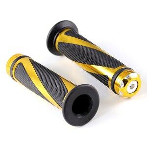 Image 5 - Универсальные ручки для мотоциклов 7/8 дюйма 22 мм, металлические и резиновые ручки для мотоциклов KTM, Honda, Yamaha, Suzuki, Ducati