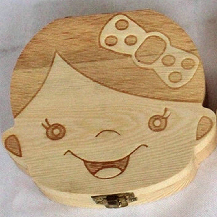 Handmade Wooden Baby Deciduous Box Baby Baby Hair Storage Collection Box Children's Tooth House Save Box Teeth