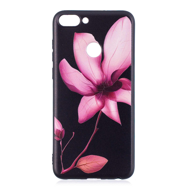 Funda de silicona suave TPU para Huawei P funda de teléfono móvil inteligente para Huawei PSmart dibujos animados flores pintura Fundas Coque capa