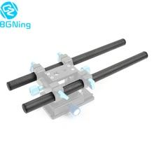 2 adet 10cm / 25cm /30cm / 40cm karbon Fiber tüp çubuk Dia 15mm çubuk raylı sistem takip odak kamera kafesi kiti