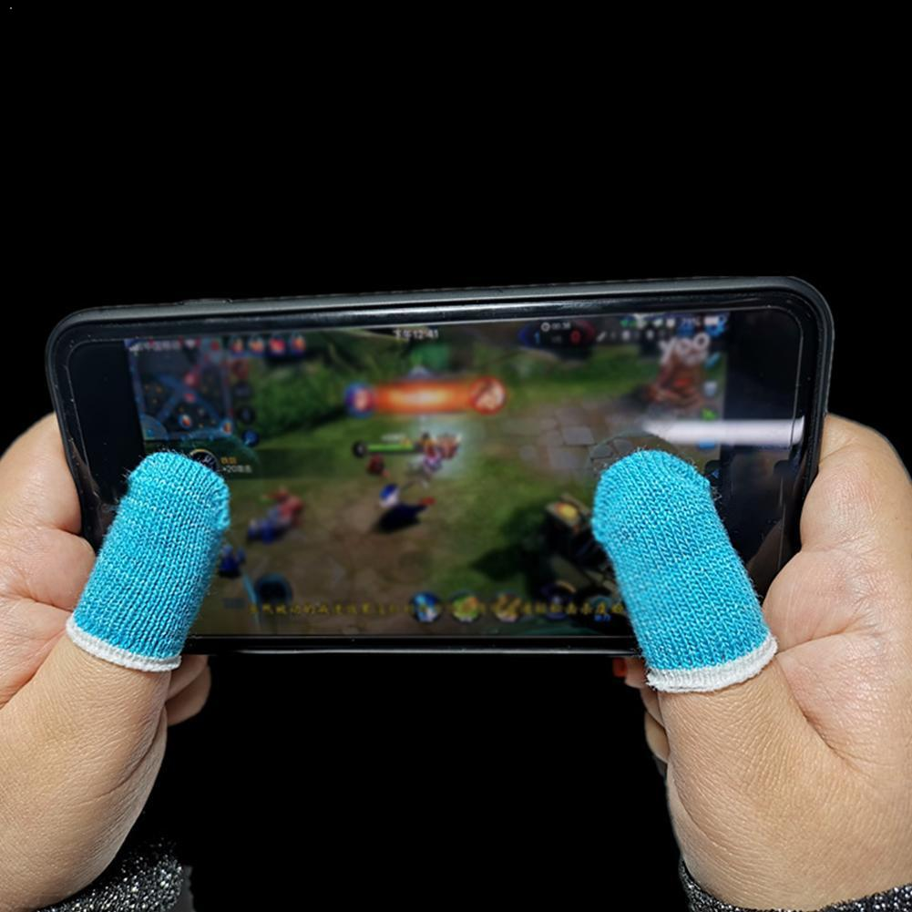 20PCS Professional Touch Screen Thumbs Finger Sleeve Phone Game Mobile For Pubg Gloves Gaming F1G6