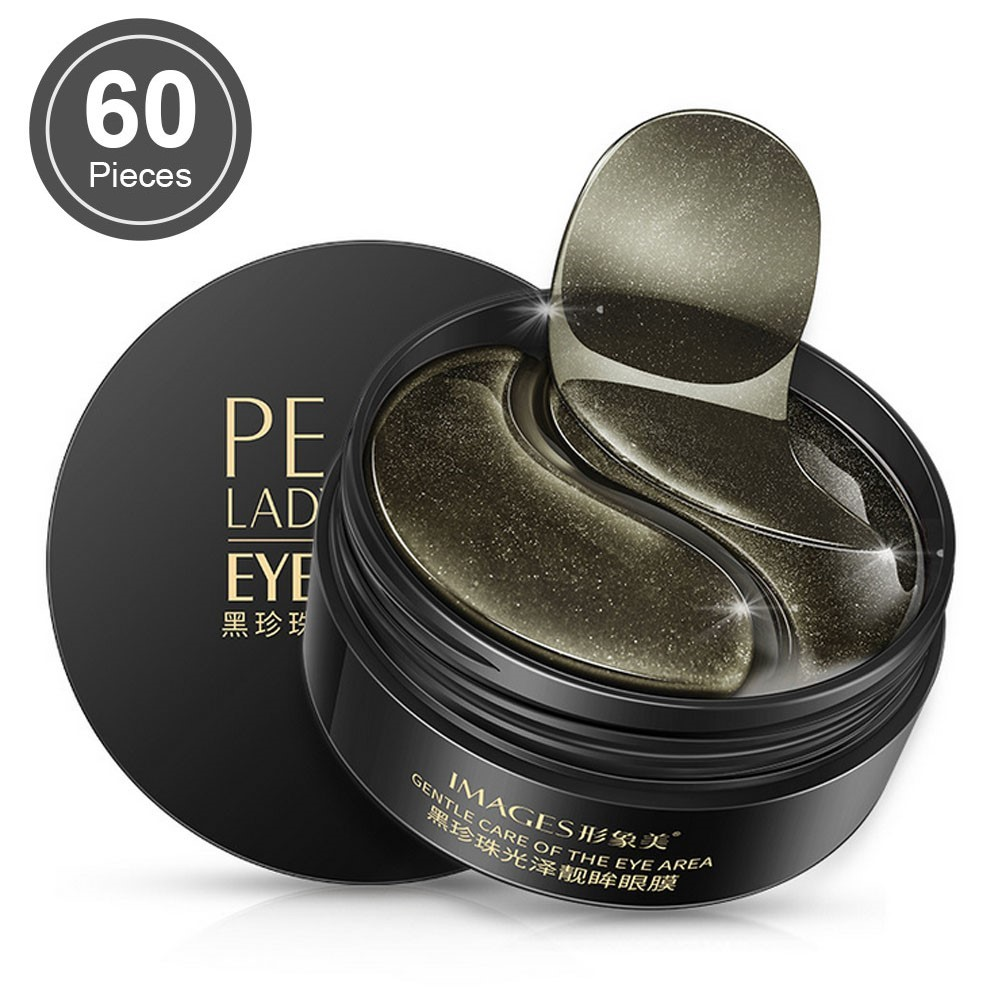 Black Pearl Collagen Mask Natural Moisturizing Gel Eye Patches Remove Dark Circles Anti Age Bag Eye Wrinkle 60 Piece Skin Care
