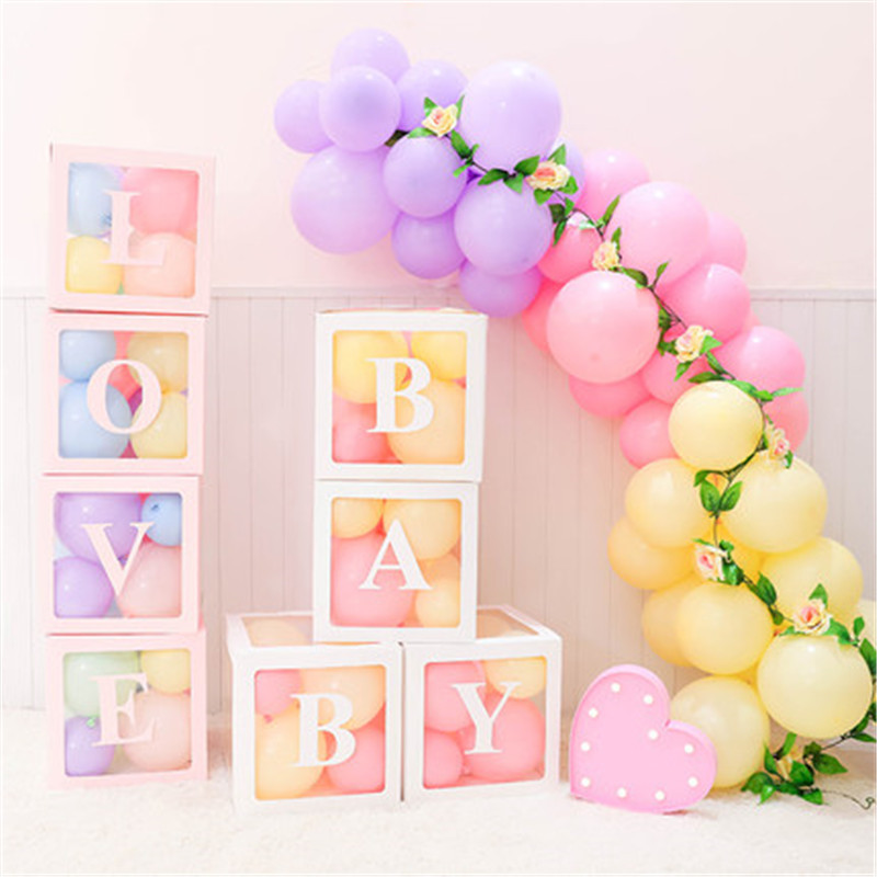 Goo Party Transparent Name Age Box <font><b>Girl</b></font> Boy Baby Shower <font><b>Decor</b></font> Baby 2 1st <font><b>1</b></font> One <font><b>Birthday</b></font> Party <font><b>Decor</b></font> Gift Babyshower Supplies image