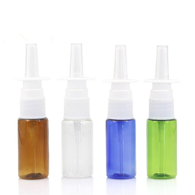 1PC 15ml PET Empty Bottle Plastic Nasal Spray Bottles Pump Sprayer Mist Nose Spray Refillable Bottles For Medical