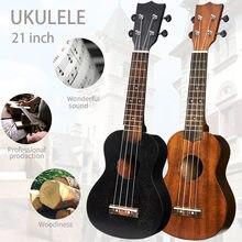 21 Polegada ukulele soprano iniciante ukulele guitarra ukulele mogno pescoço delicado tuning peg 4 cordas de madeira ukulele