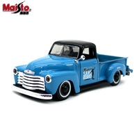 Maisto 1:24 1950 Chevrolet Pickup Diecast Metal Car Models High Simulation Vehicle Toy With Be Opened Gifts For Children