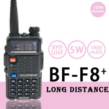 Baofeng Radio BF-F8+ Walkie Talkie 2Way Ham Radios Pofung рации F8+ 5W VHF UHF Dual Band Long Distance Handheld hf Transceiver - DISCOUNT ITEM  38 OFF Cellphones & Telecommunications