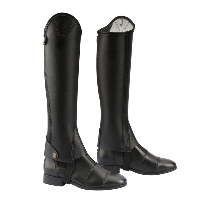 Cavassion Microfiber Bionic Equestrian Leather Riding Boots Half-Chaps For Kids & Adults  1
