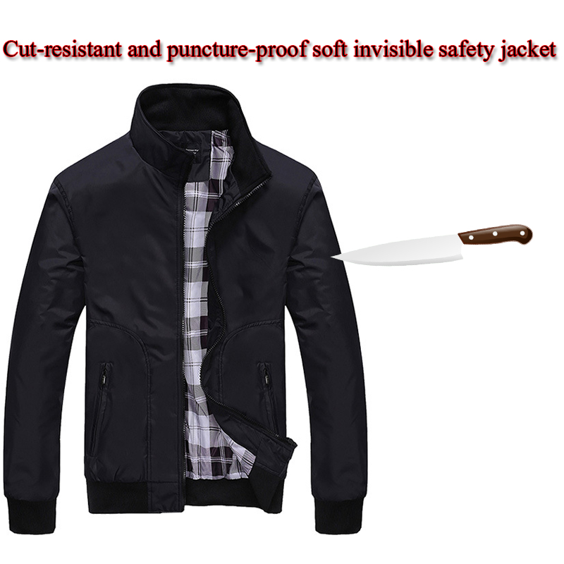 Self-defense Cut Resistant Clothing Policia Tactico Men Plus Size Long-sleeved Jacket Stab Invisible Flexible Security Clothing