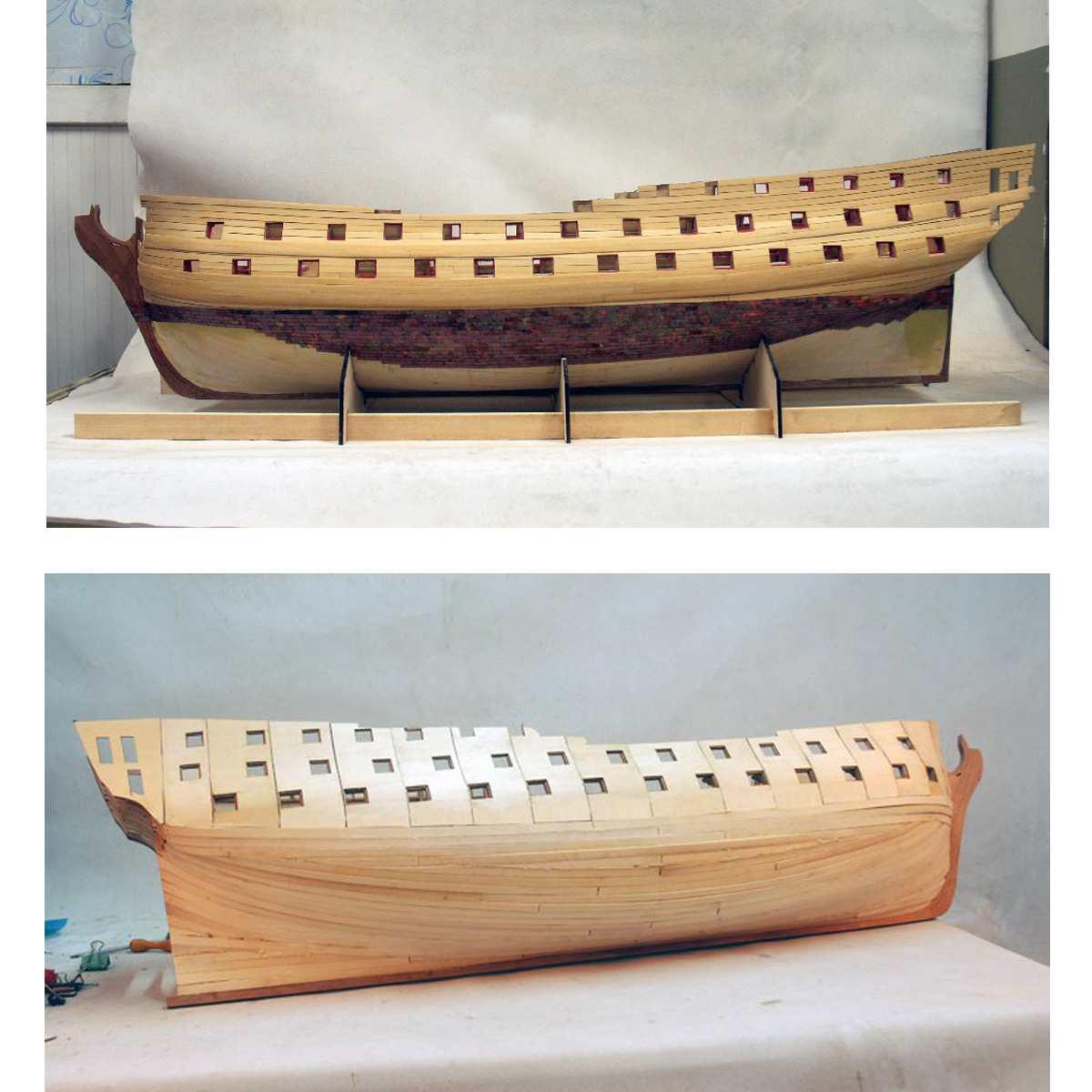 DIY Handgemaakte Montage Schip Voor HMS Bellona 1/48 Schaal Houten Craft Slagschip Model Kits Huishoudelijke Ornamenten Decoratie Gift - 2