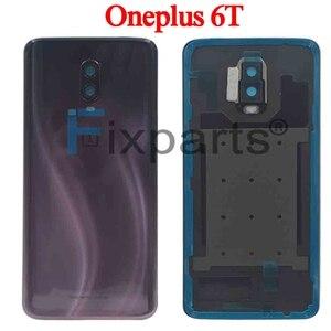 Image 4 - Oryginalne szkło A6000 do OnePlus 6 7 Pro tylna pokrywa baterii tylna szyba do Oneplus 6T pokrywa baterii 1 + 6 obudowa Case + klej