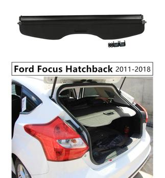 Rear Trunk Cargo Cover Security Shield For Ford Focus Hatchback 2011 2012 13 14 2015 2016 2017 2018 High Qualit Auto Accessories