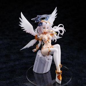 Image 3 - 22cm Hyperdimension Neptunia Choujigen Game Neptune Noire Black Heart White Wings Sitting Ver. PVC Action Figure Collection Toys