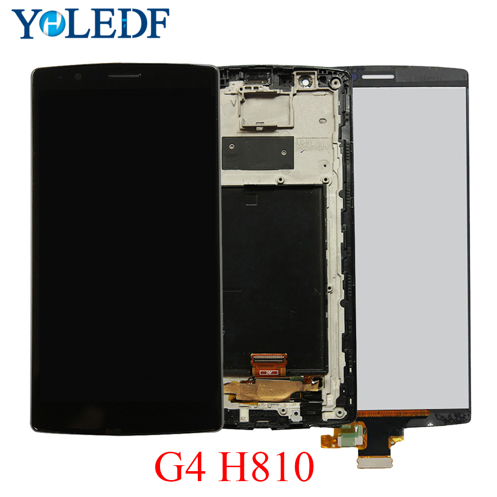 Single SIM ORIGINAL tela for LG G4 H815 Display LCD Touch Screen with Frame Replacment H810 H811 H815 Screen Display for LG G4 image