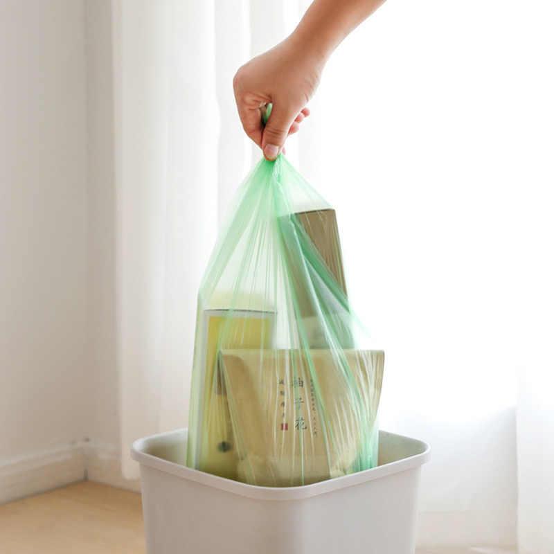 1 rolo Casa Cor Sólida Espessamento Sacos De Lixo De Plástico para Sacos De Armazenamento Bin Lixeira De Resíduos de Escritório Em Casa Acessórios de Cozinha