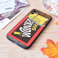 Chocolate Wonka Bar boleto dorado Impresión de silicona suave Matt caso para el caso del iPhone de Apple