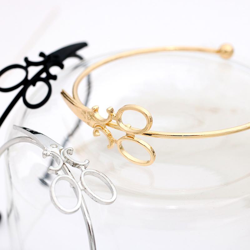 Fashion-Scissors-Charm-Bracelets-For-Women-Men-Simple-Gold-Silver-Black-Shears-Opening-Bangles-Hair-Stylist (4)
