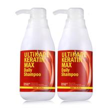 11.11 2pcs Hot Set New Hair Smooth and Shine Products 300ML Keratin Daily Shampoo After Straighten Hair Free Shipping
