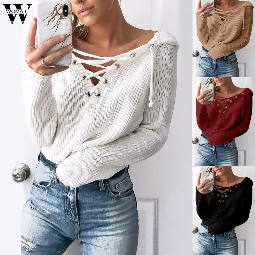 New Women Chunky Baggy High Sweater Knit Contrast Ladies Sleeve Oversized Jumper
