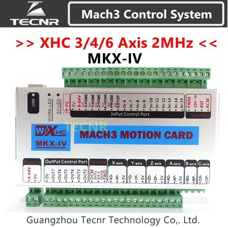 XHC MK4 Mach3 Breakout Board 3 4 6 Axis USB Motion Control Card 2MHz Support Windows 7,10