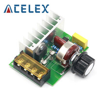 4000W 0-220V AC SCR Electric Voltage Regulator Motor Speed Controller Dimmers Dimming Speed With Temperature Insurance