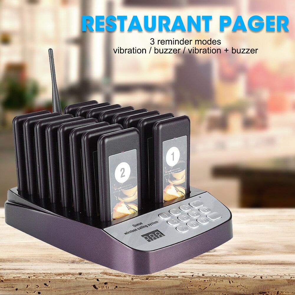 Sistema de buscapersonas de llamadas inalámbricas, sistema de buscapersonas para restaurante, sistema de llamadas de 16 buscapersonas, cliente de llamadas para restaurante