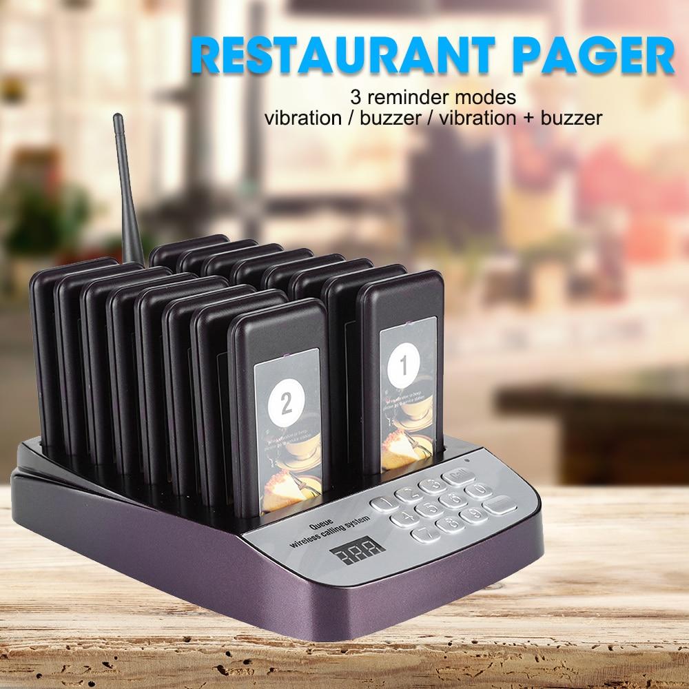 Система беспроводного пейджера для вызовов, система пейджера для гостей ресторана, система для вызова очередей, 16-дюймовый пейджер, клиент ...