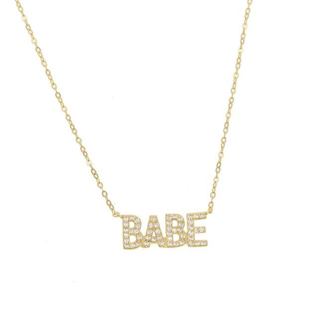 Купить ожерелье из серебра 100% пробы с индивидуальными буквами украшенное