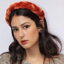 Fashion Womens Pearl Velvet Tie Hairband Headband Crystal Knot Hair Hoop Accessories