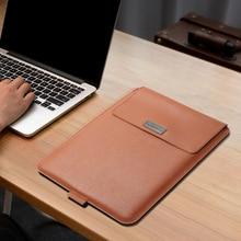 Saco do portátil para macbook ar pro retina 11 12 13 14 15 15.6 polegada caso luva do portátil capa de couro do plutônio para xiaomi para huawei d14