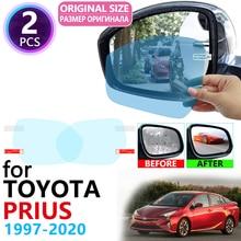 Для Toyota Prius 10 20 30 50 C V Aqua 1997~ полное покрытие зеркало заднего вида противотуманные пленки непромокаемые противотуманные пленки аксессуары
