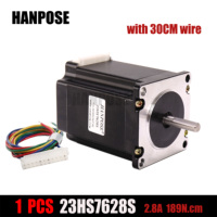 Free shipping 1PCS 23HS7628 Nema 23 Stepper Motor 2.8A 189N.cm ISO CNC4 lead for CNC 4 lead Machine