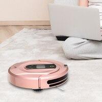 Intelligent Robot Vacuum Cleaner para Casa Sem Fio Rota Planejada Robotic Vacuum Cleaner Wet and Dry Auto Varredor Carga|Aspiradores de pó| |  -