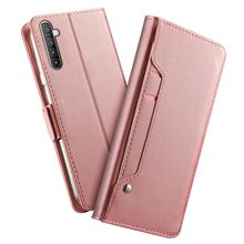 For Oppo Reno 2 Z Realme XT Case PU Leather Wallet Flip Stand with Mirror and Card Slots Cover for Oppo A9 (2020) Reno Ace Case