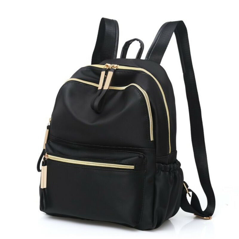 Women Convenient Backpack Oxford Cloth Waterproof Rucksack Ladies Girls Zipper Soft Bag