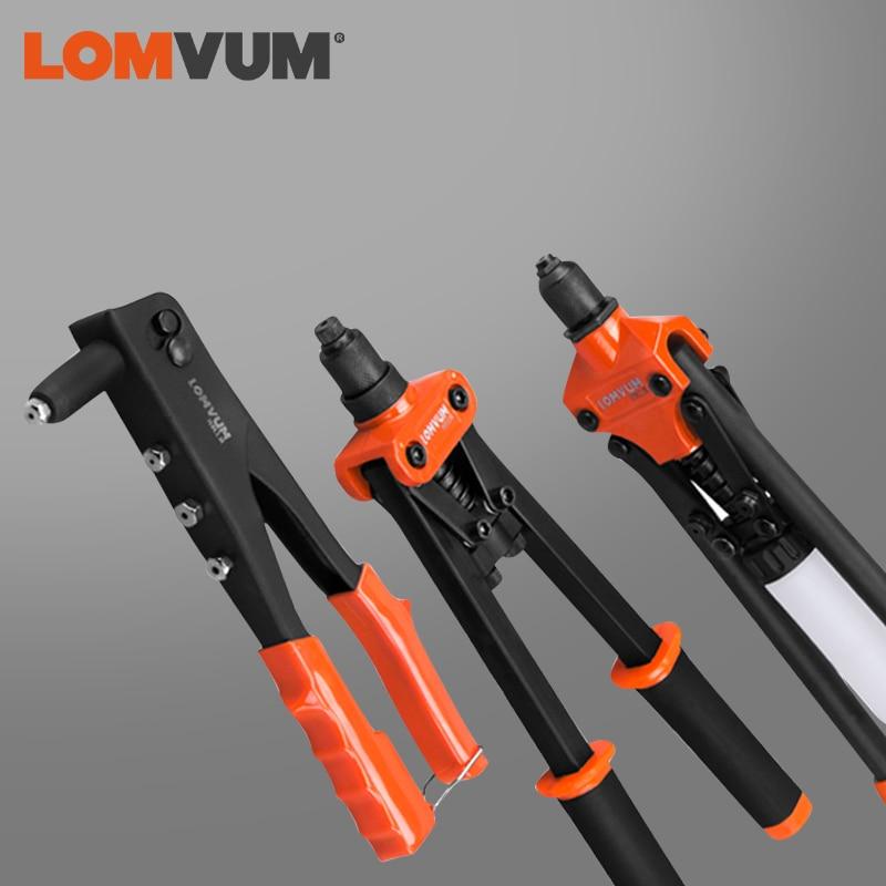 LOMVUM Riveter Gun Hand Riveting Kit Nuts Nail Gun Household Repair Tools