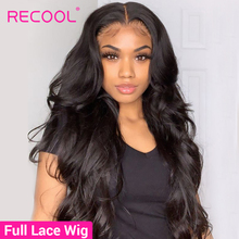 Recool Full Lace Human Hair Wigs Glueless Brazilian Body Wave Wig Full Lace Wigs Human Hair Wigs With Baby Hair