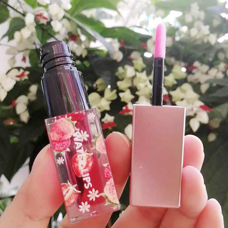 変色透明リップグロス透明リップグロス保湿液体口紅植物ベビー唇
