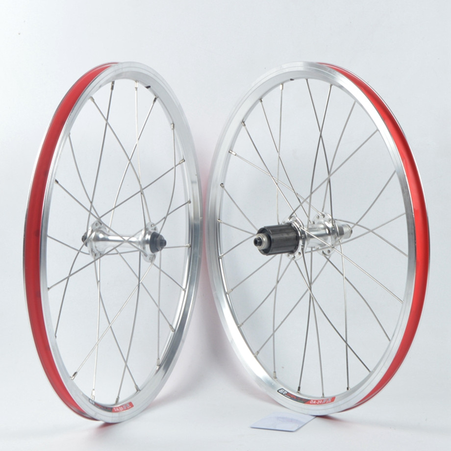 Novatec <font><b>BMX</b></font> Bike Two Seald Bearing <font><b>Wheels</b></font> Folding Bicycle <font><b>20</b></font> Inch 406 P8 SP8 V Brakes Self-made <font><b>Wheel</b></font> Set image