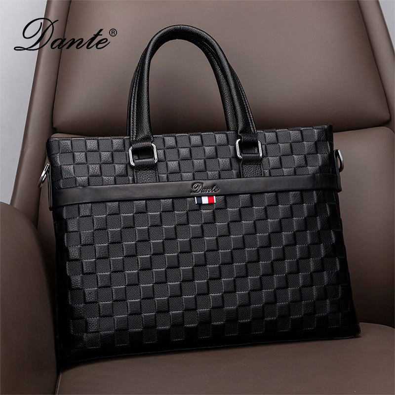 men's handbag genuine leather large capacity computer bag business cowhide shoulder messenger leisure briefcase office bags men