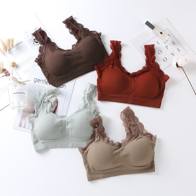 >Multi-color Korean-style Lace Non-Steel Ring Wrap-around Tube <font><b>Top</b></font> Bra Underwear Base <font><b>Tank</b></font> <font><b>Top</b></font> <font><b>High</b></font> Quality