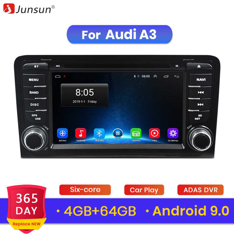 Junsun 64 4G + G Android 9.0 Para Audi A3 8 P/A3 8P1 3-porta Hatchback /S3 8 P/Sportback RS3 Multimedia Player GPS 2 Rádio Do Carro din DVD