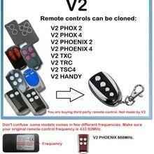 V2 PHOX 2,4, PHOENIX 2,4, TXC, TRC, TSC4, удобный дубликатор дистанционного управления 433,92 МГц прокатный код