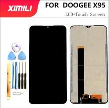 6.52 100 ٪ جديد الأصلي اختبار DOOGEE X95 شاشة الكريستال السائل مجموعة المحولات الرقمية لشاشة تعمل بلمس إصلاح أجزاء ل X95 برو الهاتف استبدال