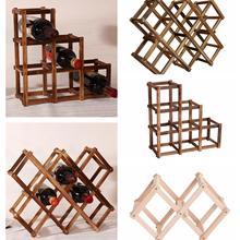 Классический деревянный стеллаж для красного вина, пивной складной держатель для 10 бутылок, кухонный бар, витрина, органайзер, домашний стол, Декор