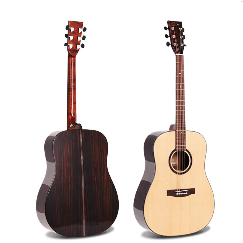41-inch A + class single board guitar high-end 41-inch folk song single wood guitar image